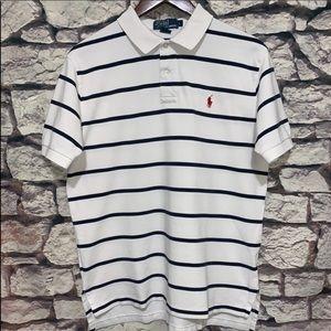 Polo by Ralph Lauren   Stripe Cotton Polo Shirt